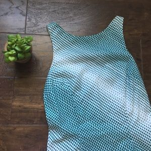 [maxandcleo] Teal and White Gradient Spotted Dress